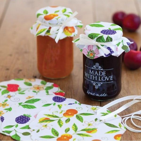 Sada 8 textilných ozdôb na zaváranie Kitchen Craft Fruit