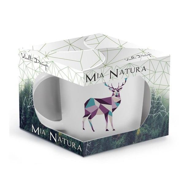 Porcelánový hrnček Vialli Design Wild Deer, 370 ml