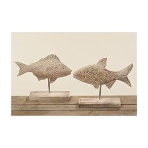 Sada 2 dekorácií z mangového dreva Boltze Fish