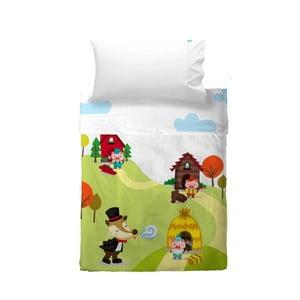 Detská obliečka na vankúš a prikrývka Mr. Fox Little Pigs, 100×130cm