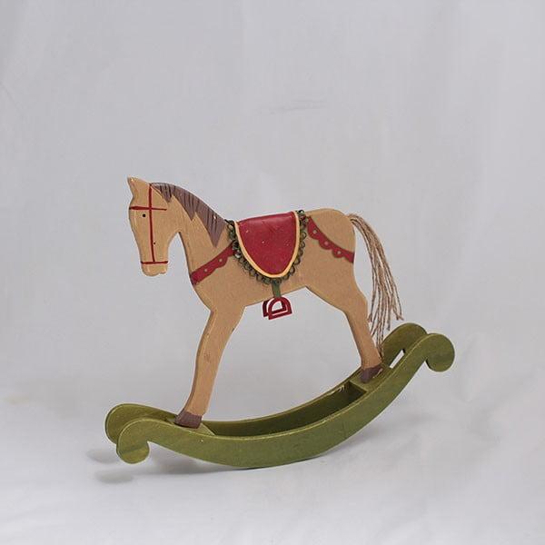Drevený hojdací kôň Dakls, dĺžka 33cm