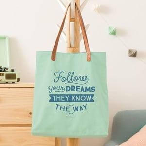 Bavlnená taška Mr. Wonderful Follow your dreams