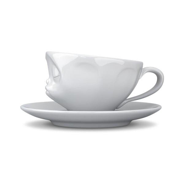 Biely bozkávajúci hrnček na espresso 58products