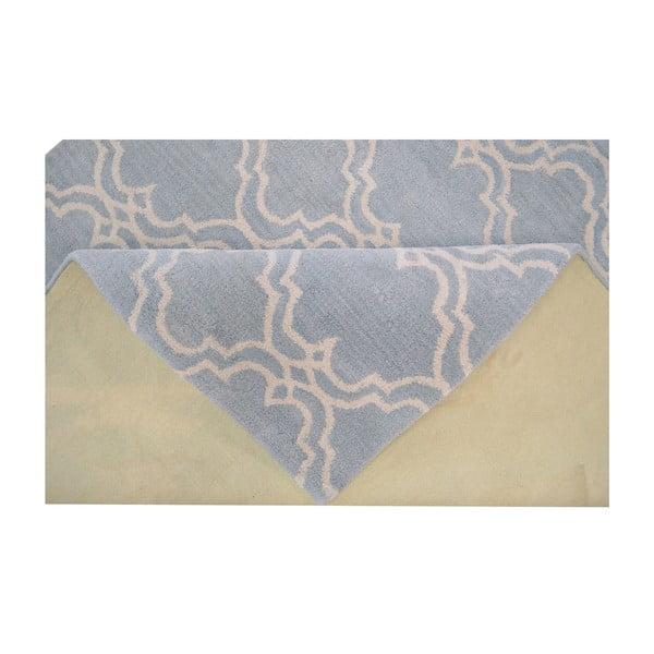 Svetlomodrý vlnený koberec Bakero Riviera, 153 x 244 cm