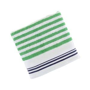 Zeleno-biely bavlnený uterák BHPC Cotton, 50x100 cm