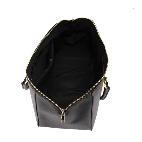 Kožená kabelka Ugni, čierna