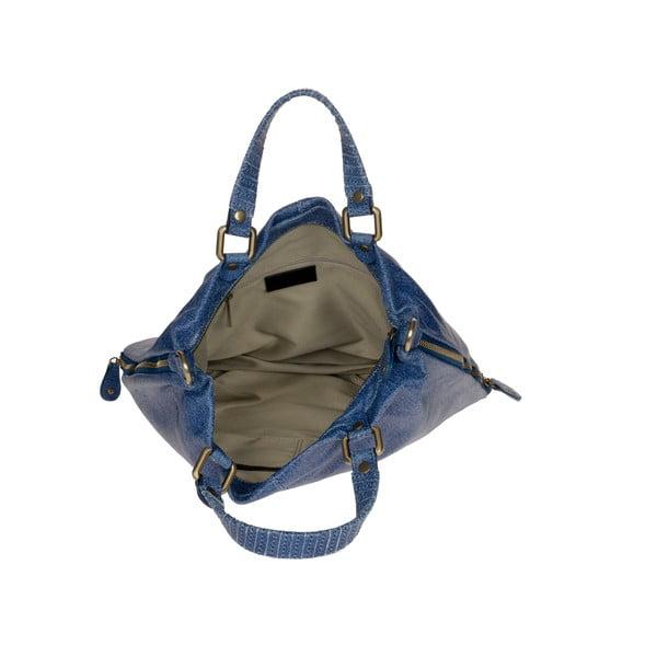 Kožená kabelka Ore Diece Affile, modrá