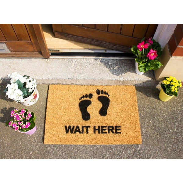 Rohožka Artsy Doormats Wait Here, 40x60cm