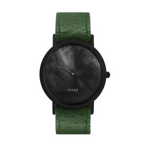 Čierne unisex hodinky so zeleným remienkom South Lane Stockholm Avant Diffuse