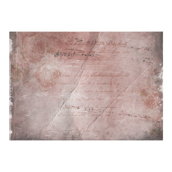 Koberec z vinylu Romantic Song, 99x120 cm