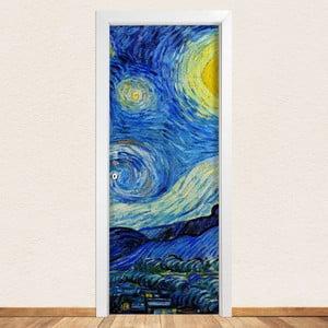 Samolepka na dvere LineArtistica Notte Stellata, 80×215 cm