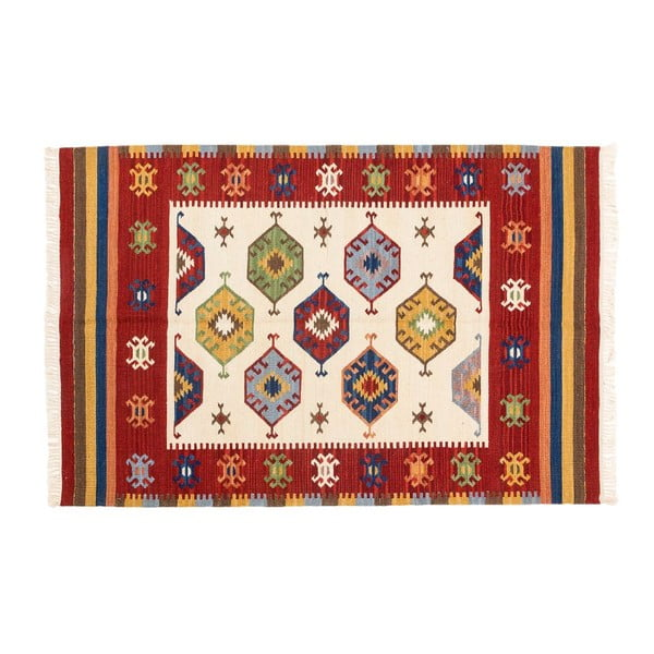 Ručne tkaný koberec Kilim Dalush 010, 90x60 cm