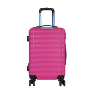 Ružová príručná batožina na kolieskach Travel World