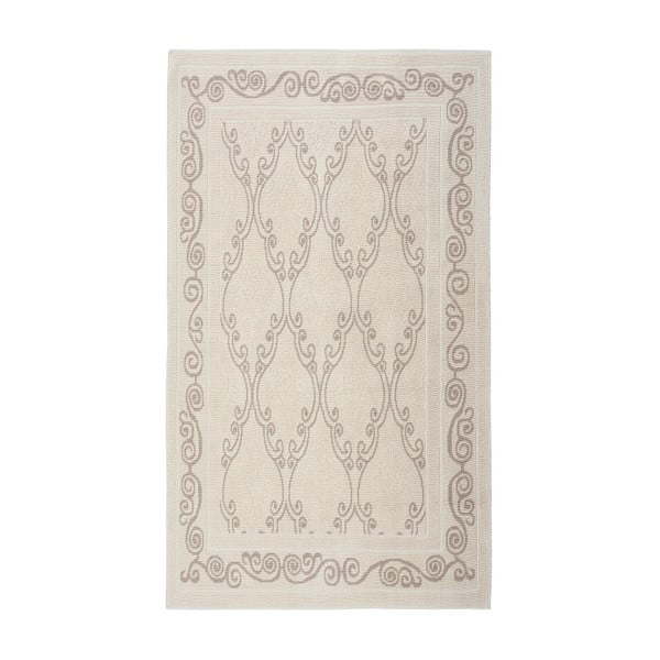 Krémový bavlnený koberec Floorist Gina, 80x300cm