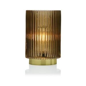 Žltá sklenená olejová LED lampa Versa Relax, ⌀15 cm