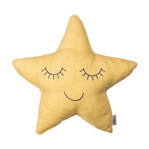 Žltý detský vankúšik s prímesou bavlny Apolena Pillow Toy Star, 35 x 35 cm