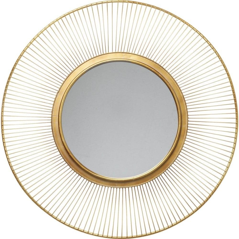 Nástenné zrkadlo Kare Design Sun Storm, Ø 93 cm