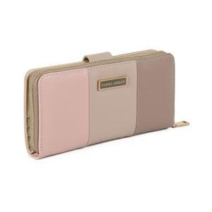 Svetlohnedá peňaženka z koženky Laura Ashley Oceana