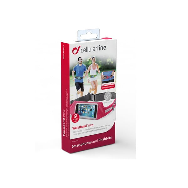 Športové puzdro CellularLine WAISTBAND, ružové