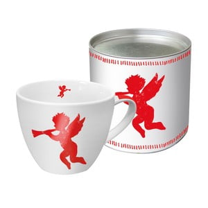 Porcelánový hrnček s vianočným motívom v darčekovom balení PPD Angel Fashion Red, 450 ml
