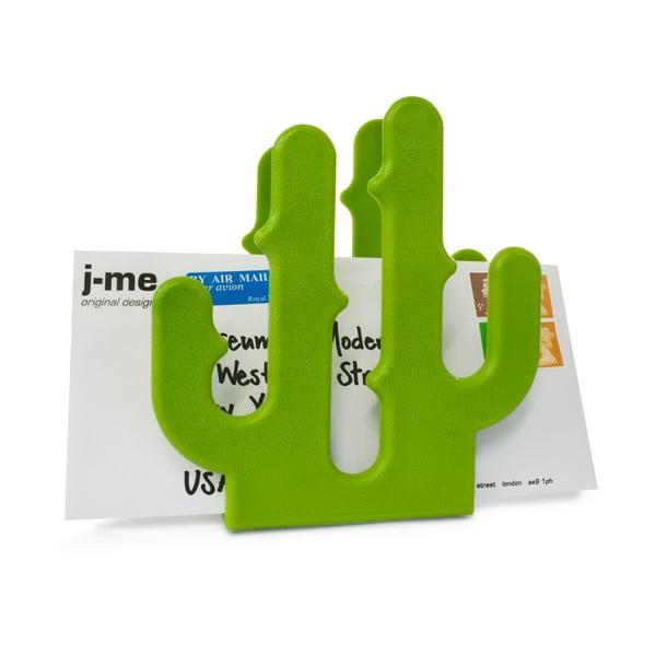 Zelený stojan na listy J-Me Cactus