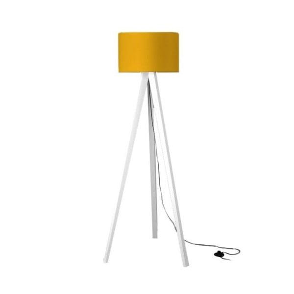 Stojacia lampa Tripod Yellow/White