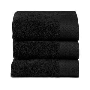 Set 3 uterákov Pure Black, 30x50cm