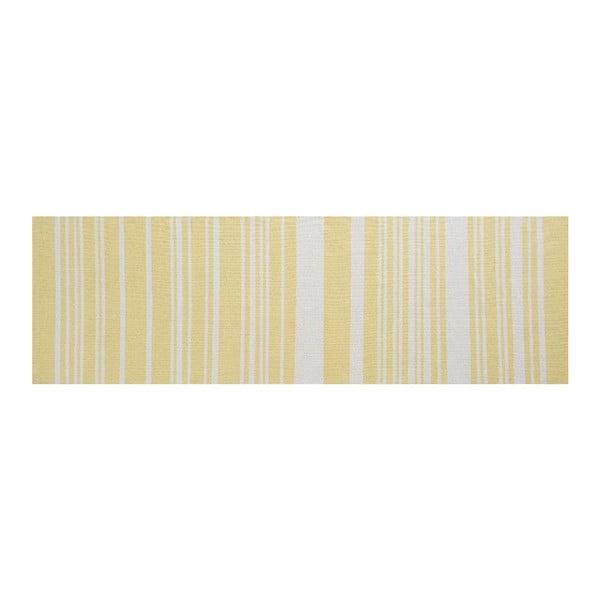 Bavlnený koberec Glorious, 80x250 cm, žltý