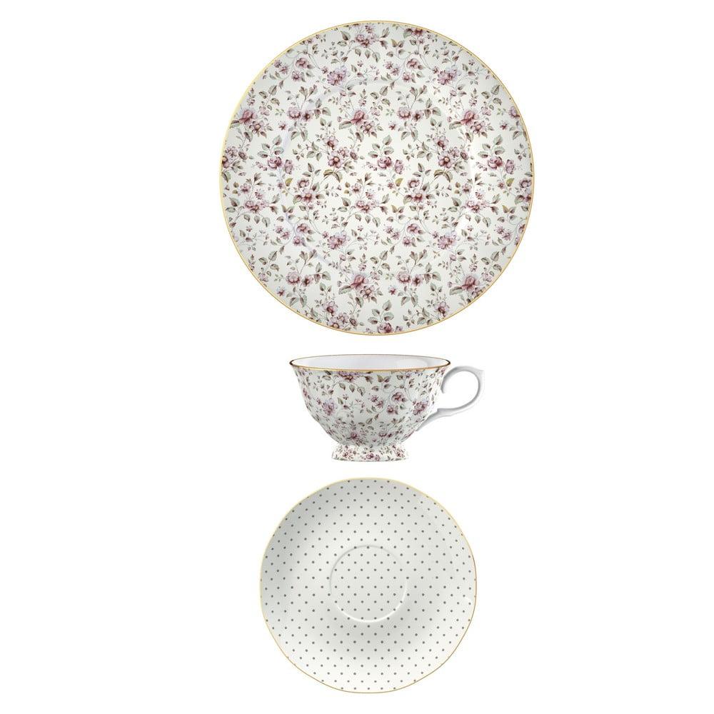 Porcelánová šálka s tanierikom a dezertný tanier Creative Tops Ditsy Floral