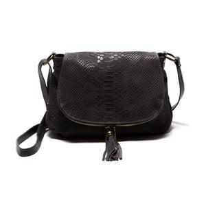 Čierna kožená kabelka Roberta M Rosetta