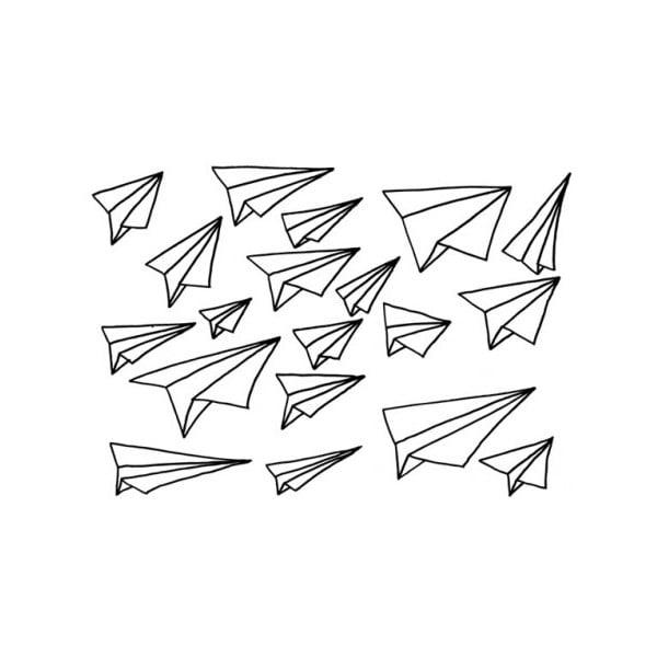 Samolepky Planes, černé