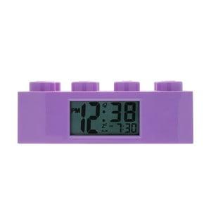 Fialové hodiny s budíkom LEGO® Brick