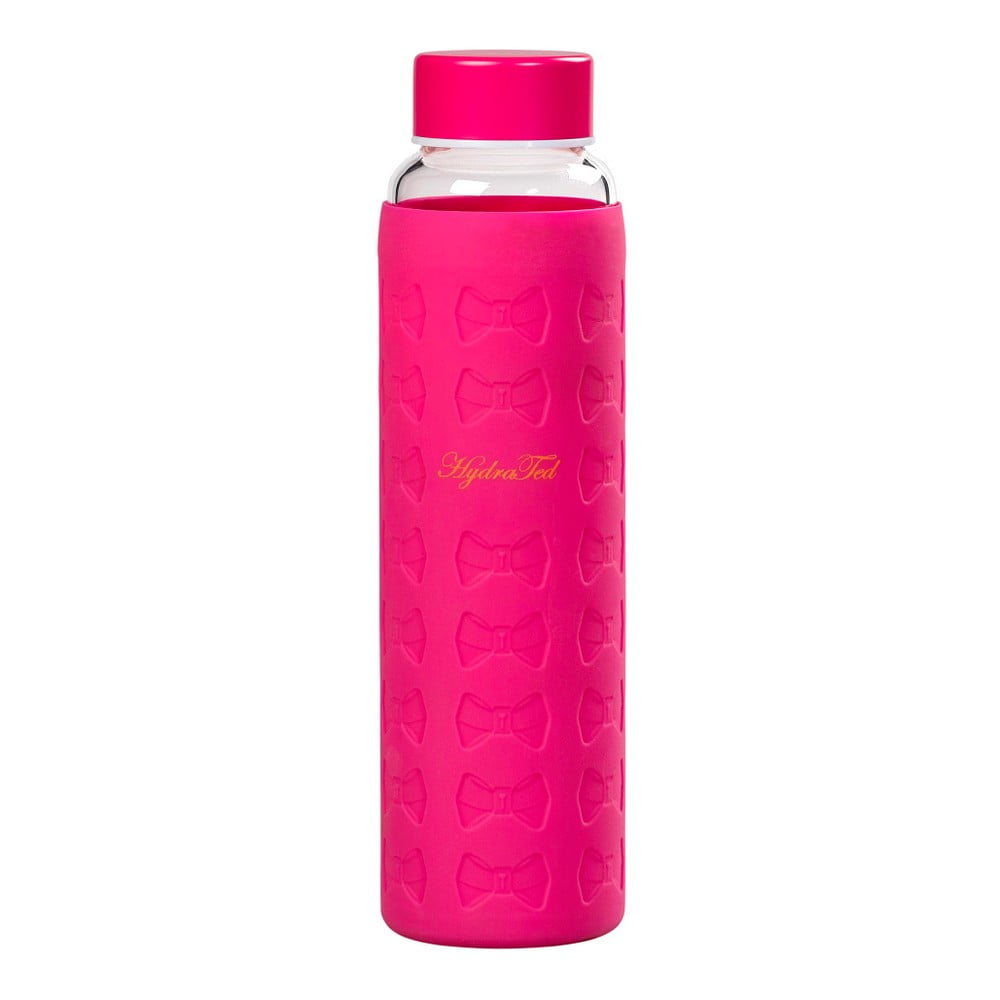 Tmavoružová fľaša na vodu Ted Baker Sleeve, 360 ml