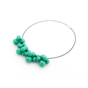 Mentolový drevený náhrdelník Ko–ra–leBubbles