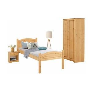 3dielny jednolôžkový posteľný set z borovicového dreva Støraa Bangor
