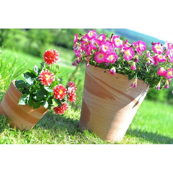 Keramický kvetináč Conico 43 cm, krémový