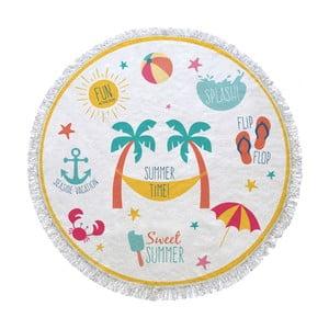 Kruhová plážová osuška La Chanta Manatu Round Beach Towel, ⌀1,5m