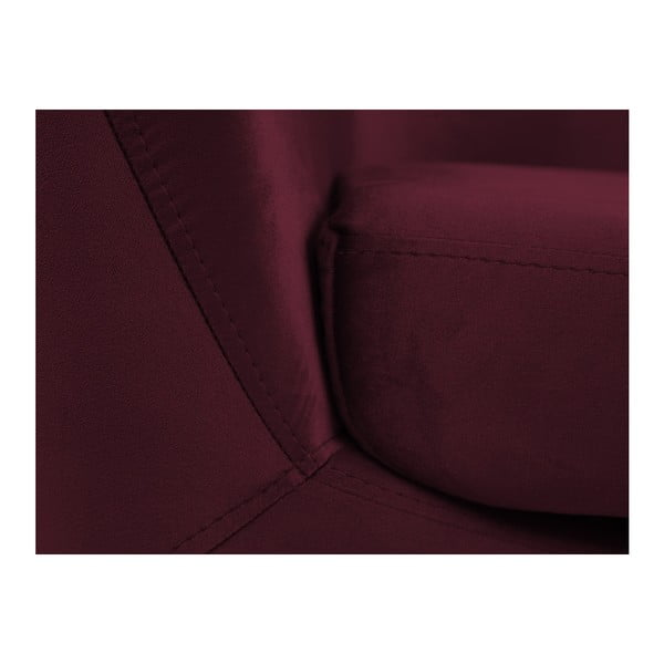Vínovočervené kreslo s čiernymi nohami Mazzini Sofas Amelie