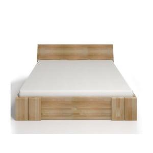 Dvojlôžková posteľ z bukového dreva so zásuvkou SKANDICA Vestre Maxi, 200×200cm