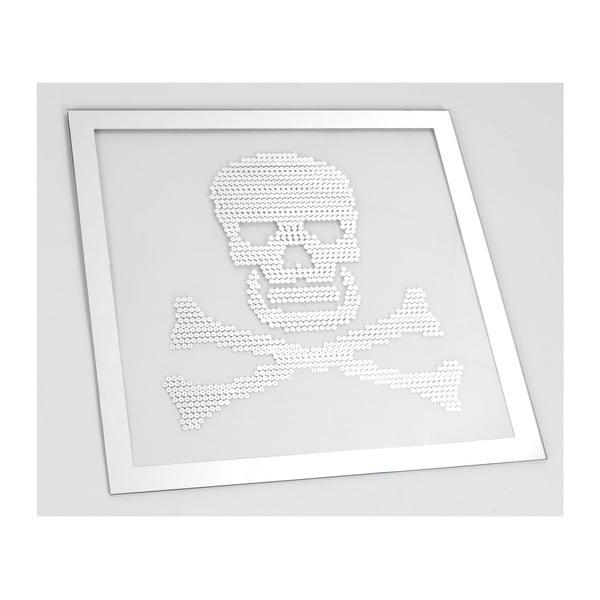 Zrkadlo Skull, 50x50 cm