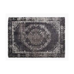 Čierny koberec s prímesou bavlny Cotex Korfu, 140 × 200 cm