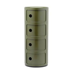 Zelený kontajner so 4 zásuvkami Kartell Componibili