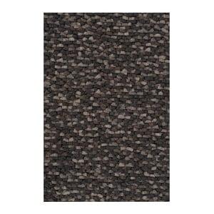 Vlnený koberec Crush Charcoal, 140x200 cm