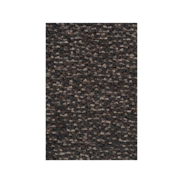 Vlnený koberec Crush Charcoal, 200x300 cm
