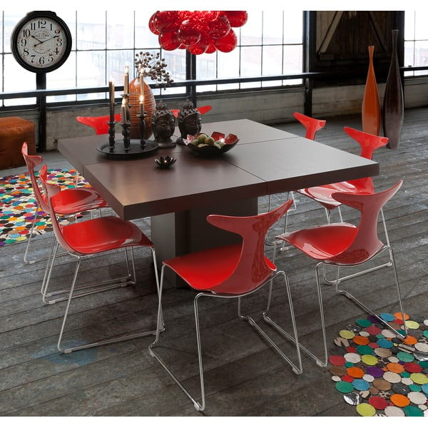 Tmavohnedý jedálenský stôl TemaHome Dusk, 130cm