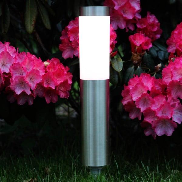 Strieborné záhradné LED svetlo Best Season Path