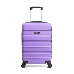Fialový cestovný kufor na kolieskach Blue Star Bilbao, 35 l