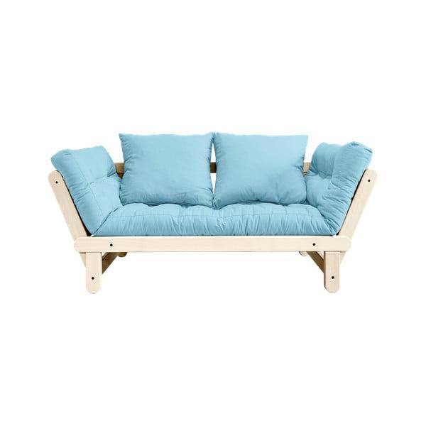 Rozkladacia pohovka Karup Design Beat Natural/Light Blue