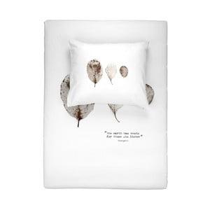 Biele bavlnené obliečky na jednolôžko Walra Elin, 135×200 cm