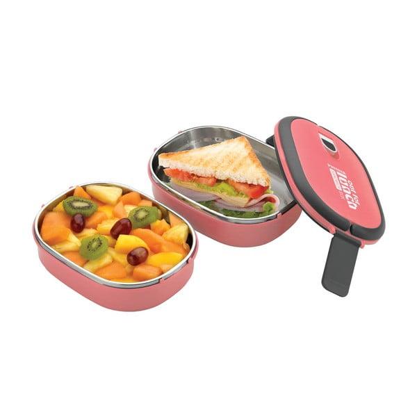 Ružová dvojitá miska na obed Pioneer Lunchbox